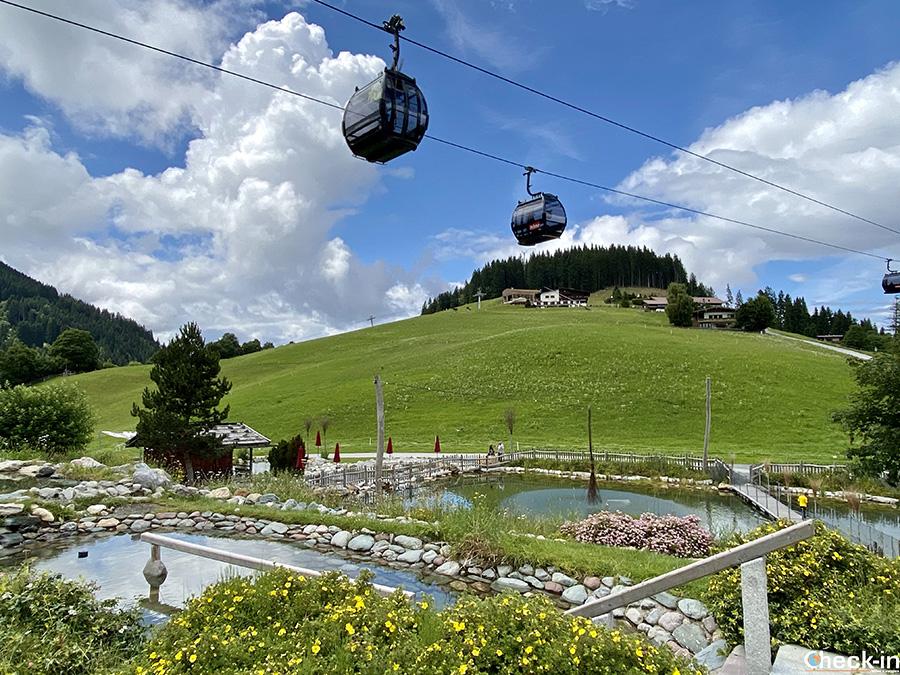 Impianto cabinovia Hexenwasser-Hohe Salve a Söll - Wilder Kaiser, Tirolo