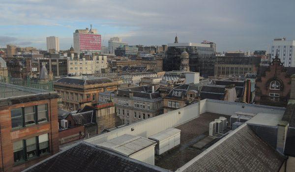 Vista a 360° di Glasgow da The Lighthouse