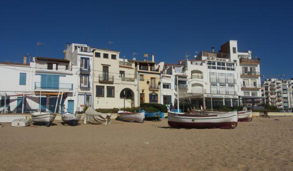 El barrio S'Auguer de Blanes, España