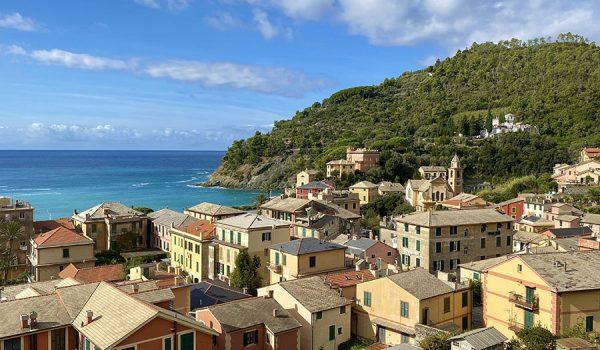 Vista panoramica di Bonassola dal Castello - Riviera ligure di levante