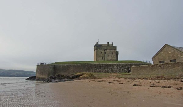 Broughty Ferry Castle as seen from the beach