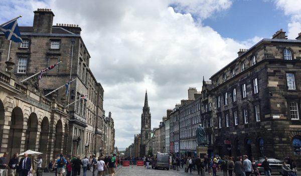 Royal Mile e City Chambers di Edimburgo, Scozia