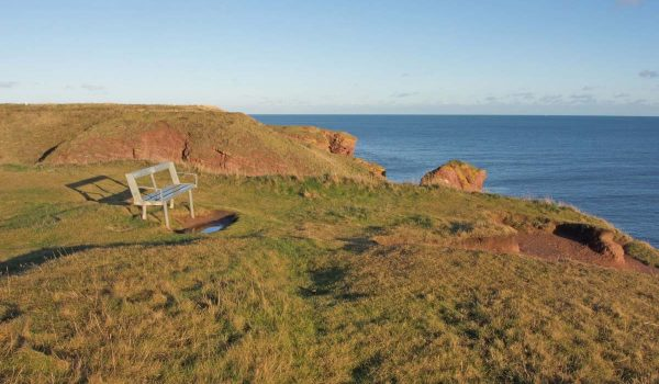 Bench along the trail between Arbroath and Auchmithie