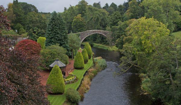 Il ponte Brig o'Doon a Alloway - Ayrshire, Scozia