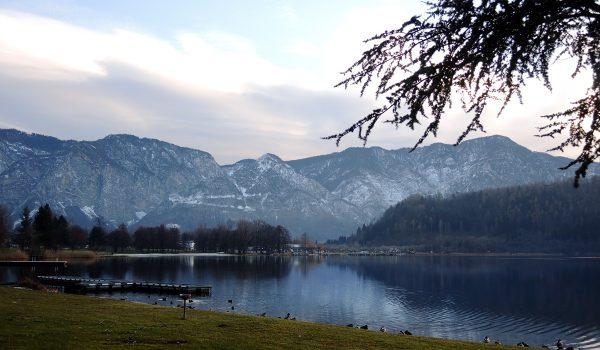 Panorama dal lago di Levico Terme