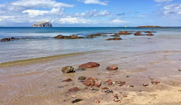 Seacliff Beach e la Bass Rock a North Berwick