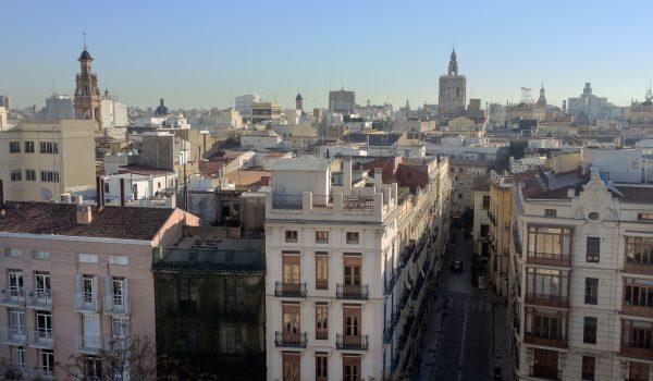 Belvedere sul centro medievale di Valencia dalle Torri di Serranos