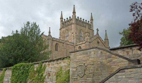 Scorcio della Dunfermline Abbey - Fife, Scozia