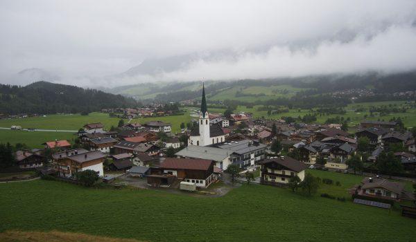 Vista panoramica di Ellmau dalla Marienkapelle