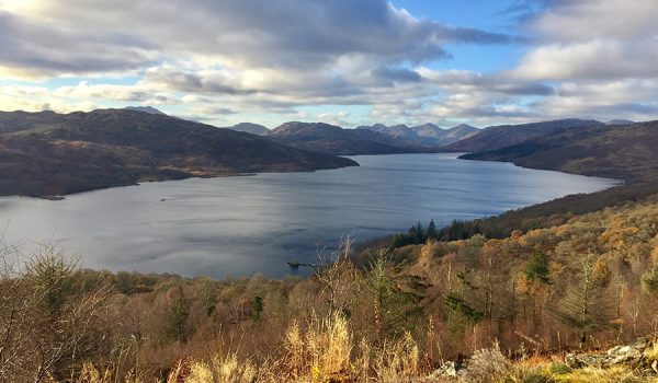 Vista panoramica sul Loch Katrine - Loch Lomond & Trossachs National Park