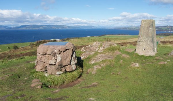 La Glaid Stone al centro dell'isola di Great Cumbrae - Ayrshire, Scozia