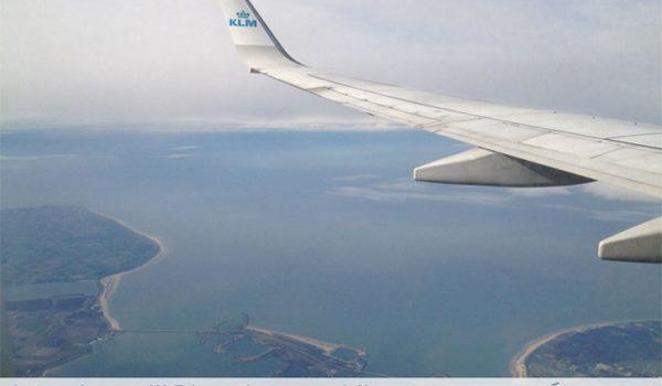 in volo con Klm verso Amsterdam Schiphol