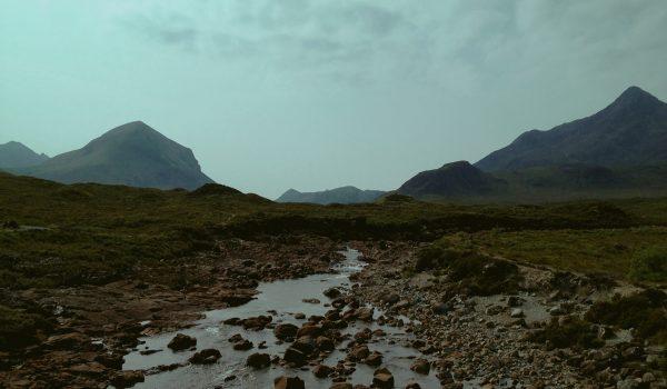 Il fiume Sligachan nell'isola di Skye