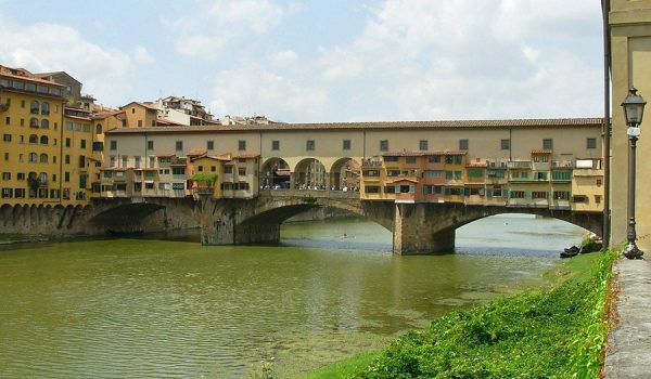 Ponte Vecchio sull'Arno a Firenze - Italia centrale