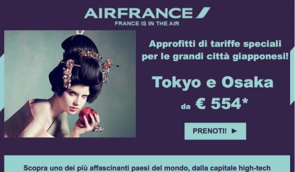 offerte air france giappone