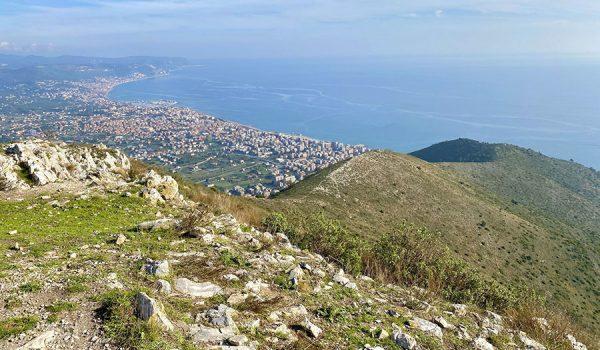 Percorso da Borghetto S. Spirito al monte Croce (541 m di quota) - Trekking in Liguria