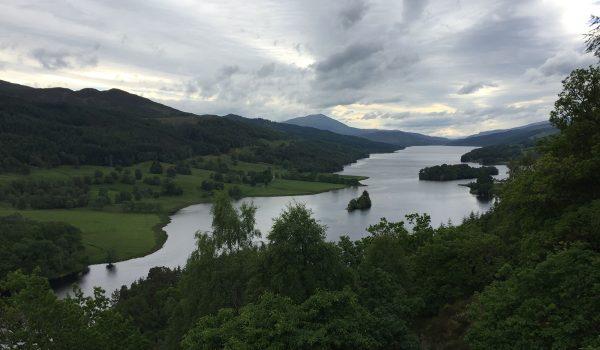 La Queen's View vicino a Pitlochry nel Perthshire in Scozia