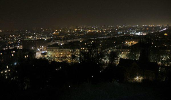 Edimburgo by night ammirata dalla collina di Calton Hill
